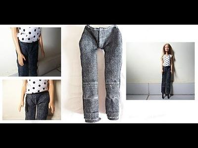 Tutorial: Como fazer calça jeans para boneca Barbie