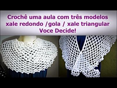 Xale de Crochê | Passo a Passo | Iniciantes | Aprender Croche | Edinir Croche