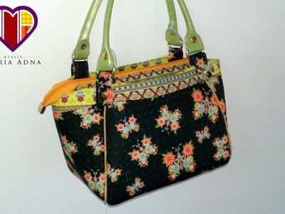 Bolsa de tecido Brenda - Maria Adna Ateliê - Cursos e aulas de bolsas de tecido e couro