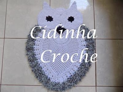 Croche-Tapete Coruja Branca- Passo A Passo- Parte 2.2