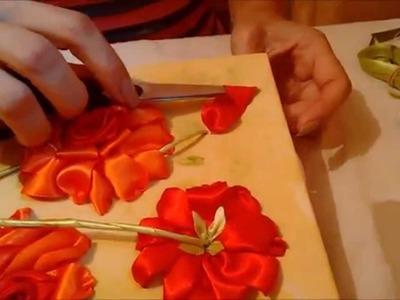 Quadro rosas de cetim parte 2 - passo a passo