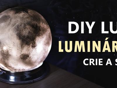 DIY luminária LUA (Moon Lamp) Decoração de quarto inspirada na lua.
