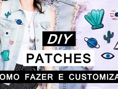 DIY PATCHES Como Fazer  e customizar roupas - Fácil e barato - Roupa estilo Tumblr