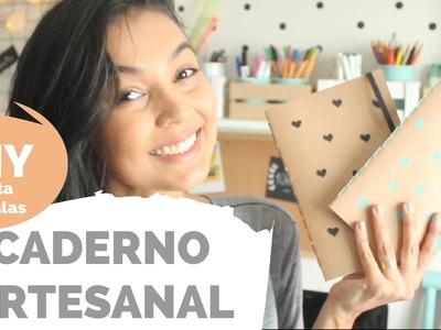 DIY VOLTA ÀS AULAS | Caderno capa de papel feito à mão | Por GavetaMix