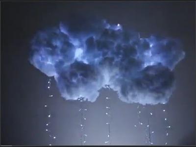 Faça você mesma decoração para quarto - Nuvem com chuva de pisca pisca