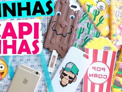 MINHAS CAPINHAS DE IPHONE! CAPINHAS DIFERENTES E LEGAIS :P