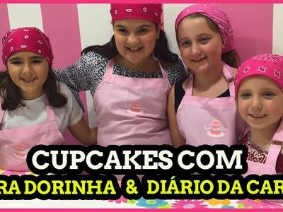 Aula de Cupcake na Bonita Bolos (FT:  Diario da Carol e Dora Dorinha) Cupcake Class for kids