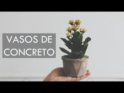 Como fazer VASO DE CIMENTO | por Isa Ribeiro - Na nossa vida