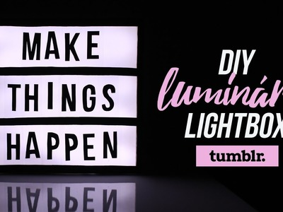 DIY | Tumblr Decor - Luminária Lightbox.Cinemabox