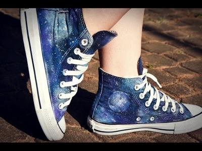 Faça você mesmo - DIY: Tênis com estampa Galaxy | DIY: Galaxy Shoes!