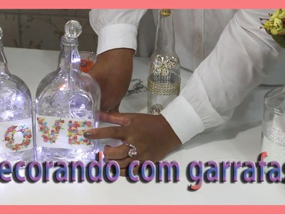 Como reutilizar garrafas de vidros na decoração,