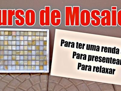 Curso de mosaico | Aula 1 | Como fazer uma bandeja | DIY