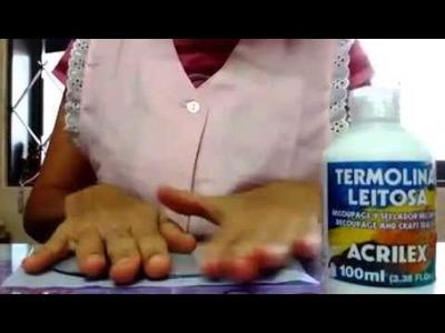 Decorando base acrílica com tecido (para topos e lembrancinhas)