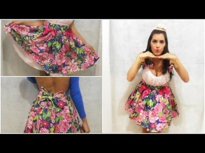 Faça seu vestido de Festa Junina -  Saia de Chita