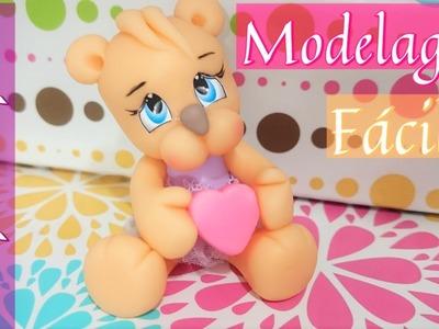 Modelagem Fácil Ursinha Apaixonada