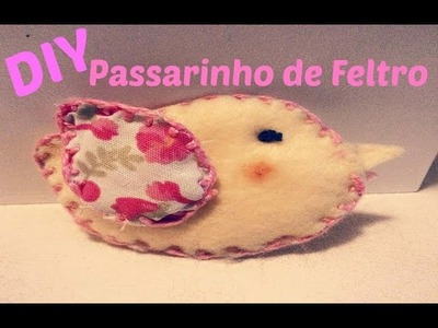 DIY - PASSARINHO DE FELTRO + Como vou usar na decoração do chá de bebê