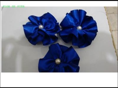 Flor de fita para chinelo