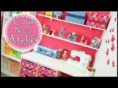 Tour pelo meu Home Office + Atelier NOVO