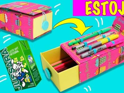 ESTOJO COM CAIXA DE LEITE - DIY - Segredos de Aline