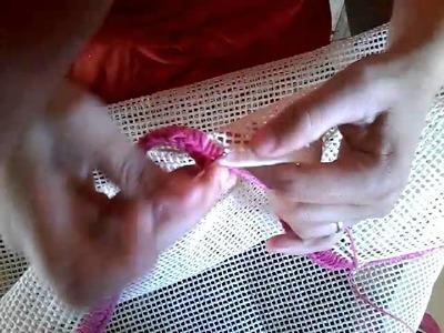 Aprenda a como fazer Borda Tapete tela garça