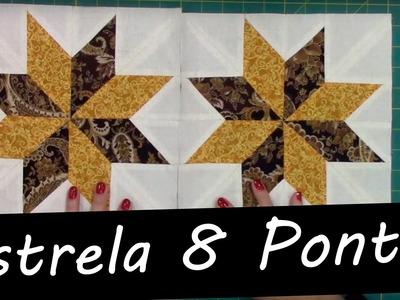 Bloco Estrela 8 Pontas | Ana Cosentino | Patchwork Sem Segredos 50