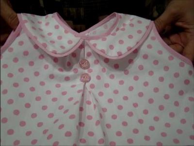 DIY - como fazer blusinha com gola para bebê passo a passo