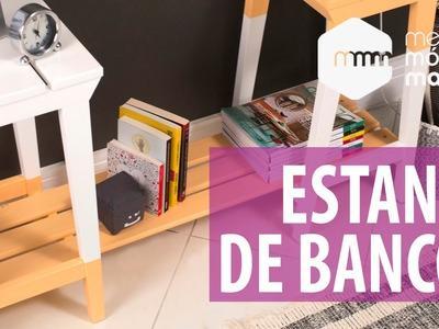 DIY: Estante de bancos de madeira