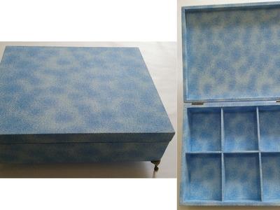 Caixa de MDF para toalete revestida com tecido - Aula parte 1 de 2