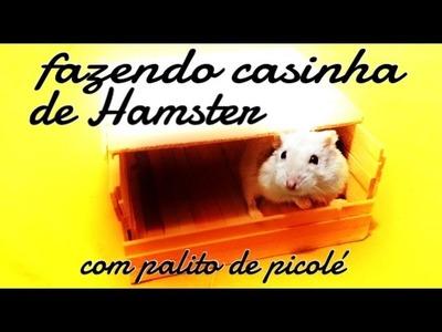 Como fazer casinha de palito de picolé para Hamster