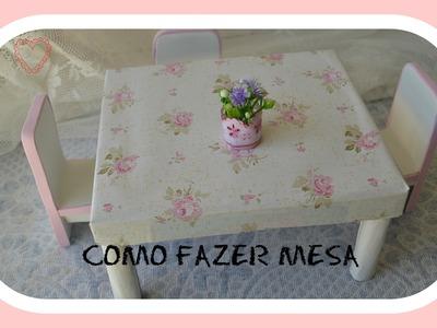 Como fazer mesa para boneca Barbie & Bjinhos