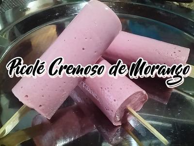 Como fazer um Delicioso Picolé Cremoso de Morango!!