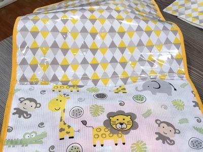 Como fazer um trocador de bebê com bolso - 13.06.16 - 1a parte