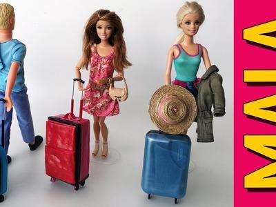 Como Fazer uma Mala De Viagem para Barbie e Outras Bonecas