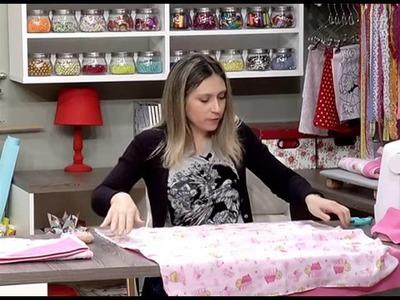 Como fazer uma toalha de bebê forrada - 06.06.16 - 1a parte
