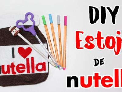 DIY - ESTOJO DE NUTELLA para VOLTA AS AULAS
