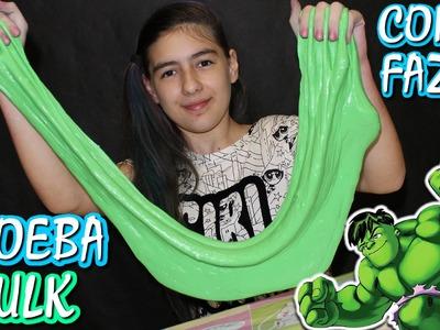 Amoeba do Hulk Passo a Passo Como Fazer Mega Geleca (DIY, Slime Baff, Herói)