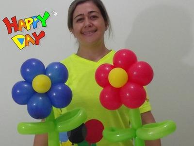 Flor de balões para centro de mesa - balloon flower for coffee table