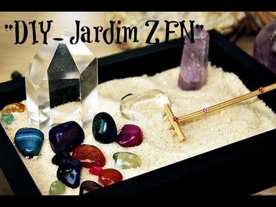 """Jardim Zen│Cantinho dos Cristais│"""" Faça o seu Próprio Jardim Zen""""- DIY com Cristais"""""""
