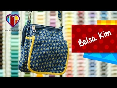 Bolsa de tecido Kim - Cursos e vendas de bolsas de tecido é no Maria Adna Ateliê