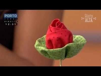 Rosas em Tecido - Costura com Riera Alta