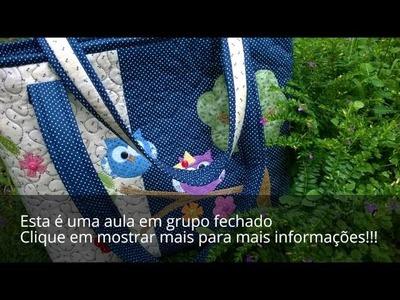 Bolsa Corujinhas (aula em grupo fechado no facebook) (Ateliê Vida Minha)