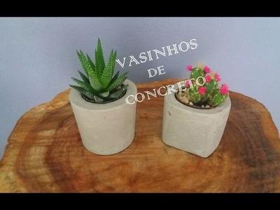 DIY- VASOS DE CONCRETO- Por Clarisse Froner