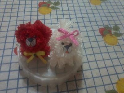 Parte3  como fazer cachorrinho de pompom