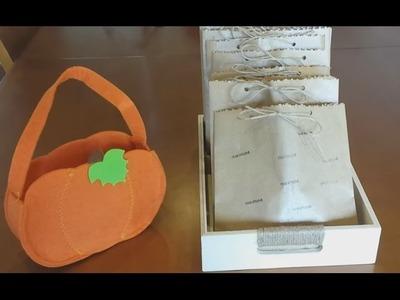 Sacos de doces para as crianças no Halloween  | Saquinhos multiuso de papel