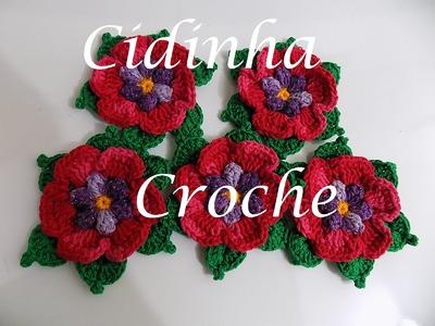 Croche- Flores Para Aplique- Tutorial Completo