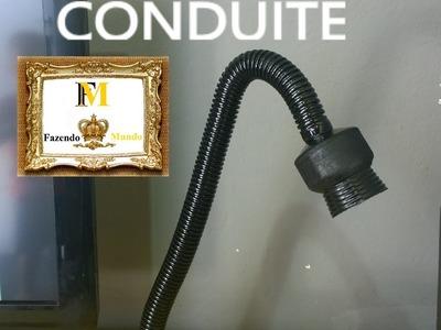 D.I.Y. - LUMINARIA COM SOBRA DE CONSTRUÇÃO