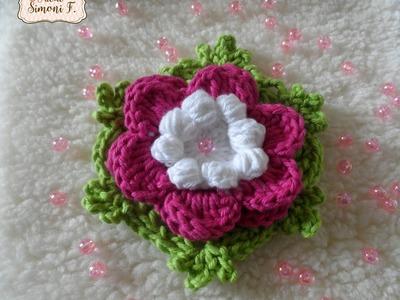 Flor Ana Cláudia em crochê