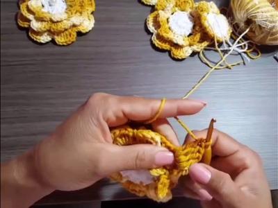 Como fazer a flor rasteirinha de crochê