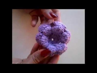 Como fazer flor de crochê para aplique