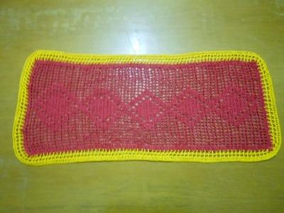 Como fazer um Caminho de Mesa de Crochê